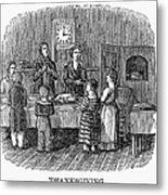 Thanksgiving, 1853 Metal Print