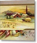 Thanksgiving Card, C1910 Metal Print