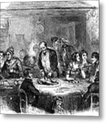 Thanksgiving Dinner, 1850 Metal Print