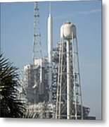 The Ares I-x Rocket Is Seen Metal Print