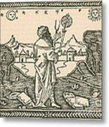 The Astrologer Albumasar Metal Print