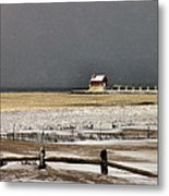 The Beach Is Closed Metal Print