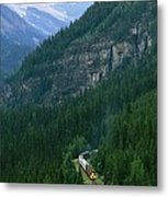 The Canada Pacific Train Travels Metal Print