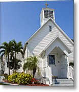 The Community Chapel Of Melbourne Beach Florida Metal Print