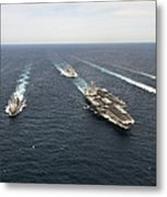 The Enterprise Carrier Strike Group Metal Print by Stocktrek Images
