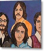 The Fab Four Beatles  Metal Print
