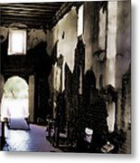 The Ghostly Nave Metal Print