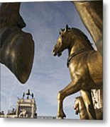 The Horses On The Basilica San Marcos Metal Print