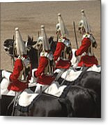 The Household Cavalry Performs Metal Print
