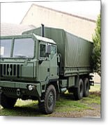 The Iveco M250 8 Ton Truck Used Metal Print
