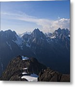 The Jagged Tops Of High Mountain Peaks Metal Print