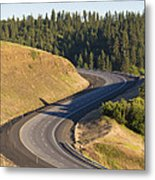 The Landscape Around The Interstate Metal Print by Don Mason