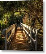 The Little White Bridge II  Metal Print
