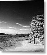 the memorial cairn on Culloden moor battlefield site highlands scotland Metal Print
