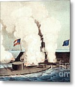 The Monitor And The Merrimac, 1862 Metal Print