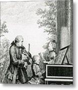 The Mozart Family On Tour, 1763 Metal Print