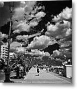 The Palm Tree Promenade Finikoudes On Larnaca Seafront Larnaka Republic Of Cyprus Europe Metal Print