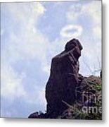 The Praying Monk With Halo - Camelback Mountain Metal Print