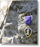 The Purple Heart Award Hangs Metal Print