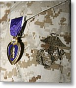 The Purple Heart Award Metal Print by Stocktrek Images