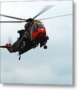The Sea King Helicopter In Use Metal Print