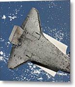 The Underside Of Space Shuttle Metal Print
