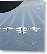 The U.s. Air Force Thunderbird Metal Print