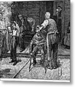 The Village Barber, 1883 Metal Print