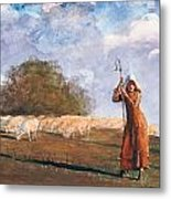 The Young Shepherdess Metal Print