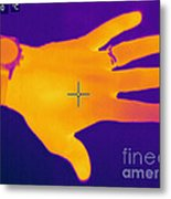 Thermogram Of A Hand Metal Print
