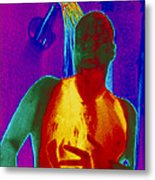 Thermogram Of A Man Taking A Shower Metal Print by Dr. Arthur Tucker