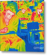 Thermogram Of Students In A Lecture Metal Print