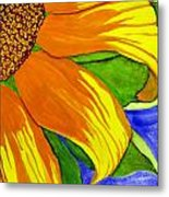 This Is No Subdued Sunflower Metal Print