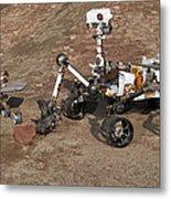 Three Generations Of Mars Rovers Metal Print