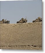 Three M-atvs Guard The Top Of The Wadi Metal Print