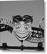 Tillie's Scream Zone In Black And White Metal Print