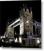 Tower Bridge At Night Metal Print