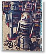 Toy Robots Metal Print