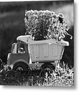 Toy Truck Planter Metal Print