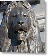 Trafalgar Square Lion Metal Print