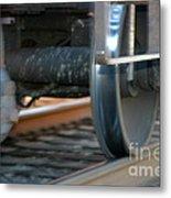 Train Tires Metal Print