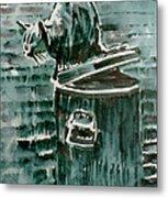Trashcan Tom Metal Print
