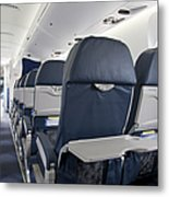 Tray Table On An Airplane Metal Print by Jaak Nilson