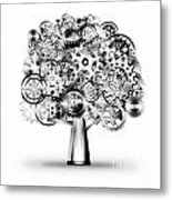 Tree Of Industrial Metal Print