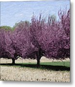 Trees On Warwick Metal Print by Trish Tritz