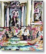 Trevi Fountain Rome Italy  Metal Print