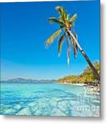 Tropical Beach Malcapuya Metal Print