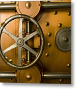 Tumbler Bank Vault Door Metal Print by Adam Crowley