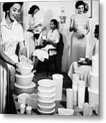 Tupperware Party, 1950s Metal Print