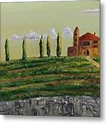 Tuscan Guest House Metal Print